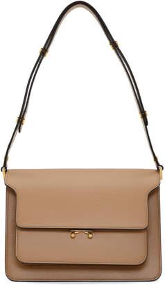 Marni Brown Medium Trunk Bag