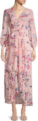 Eliza J Floral Maxi Wrap Dress