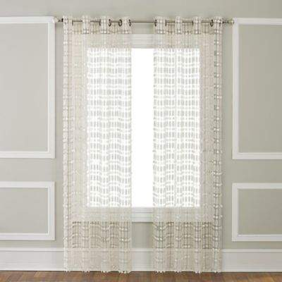 Amelia 63-Inch Grommet-Top Window Curtain Panel in Ivory