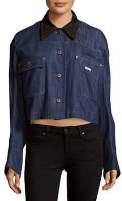Miu Miu Collared Denim Cotton Jacket