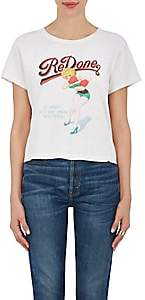 RE/DONE Women's Boxer-Print Cotton T-Shirt-White