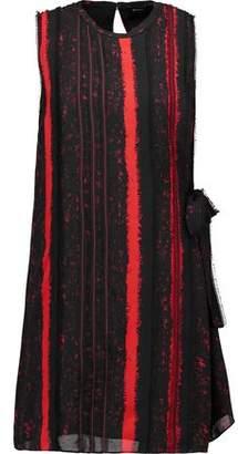 Proenza Schouler Tie-Embellished Printed Silk Mini Dress