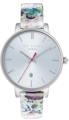 Ted Baker Kate Round Leather Strap Watch, 38mm
