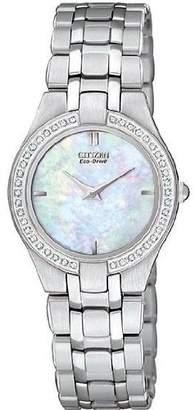 MOP Citizenx Citizen #EG3150-51D Women's Eco Drive Stainless Steel Stileto Dial Diamond Accented Watch
