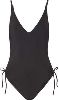 Zimmermann Prima Gathered Swimsuit - Black