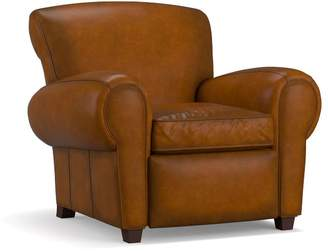 Pottery Barn Manhattan Leather Power Recliner