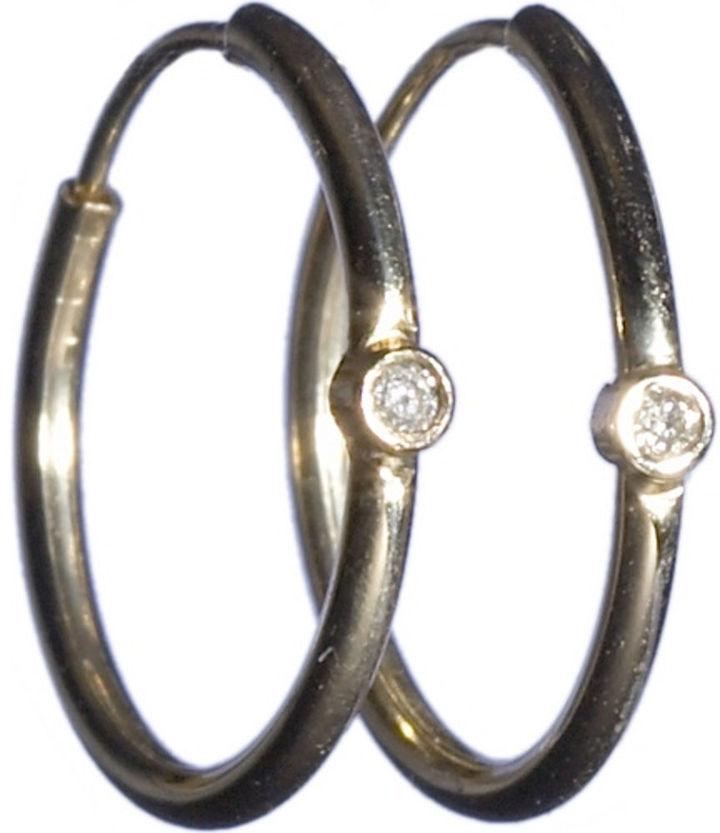 Jennifer Meyer Small Diamond Hoop Earrings