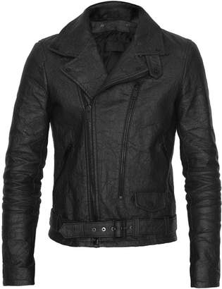 ALTIIR - Men's Neo-Classic Biker Jacket In Black