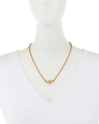 Lulu Frost Dada Crystal Lips Pendant Necklace