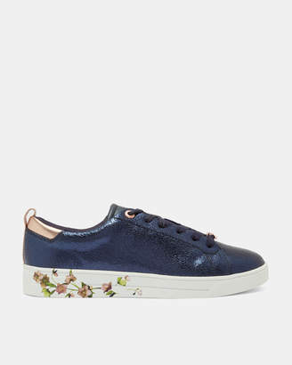 Ted Baker LUOCIA Crackle leather trainers