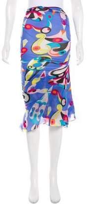 Emilio Pucci Silk Midi Skirt