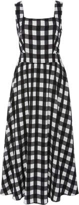 Temperley London Stirling Gingham Voile Midi Dress