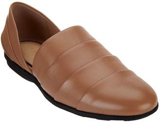 Halston H By H by Pieced Leather Slip-On Shoes - Elisa