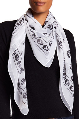 Collection XIIX Skull Border Square Scarf $32 thestylecure.com