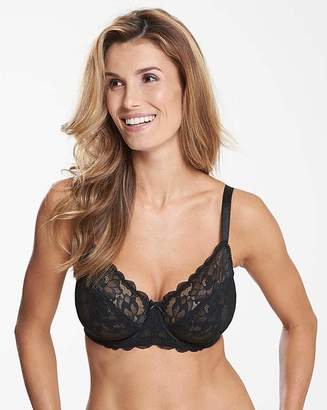 Pretty Secrets Ivy Lace Full Cup Black Bra