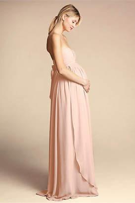 Anthropologie Cerise Maternity Wedding Guest Dress