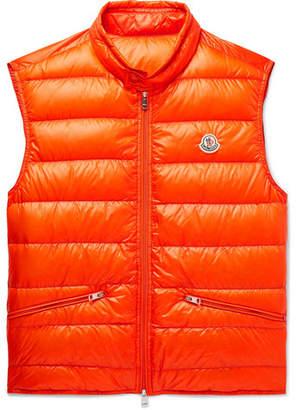 Moncler Quilted Shell Down Gilet - Men - Orange