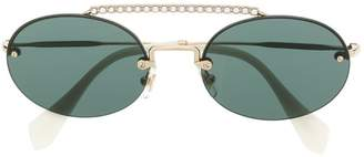 Miu Miu crystal embellished sunglasses