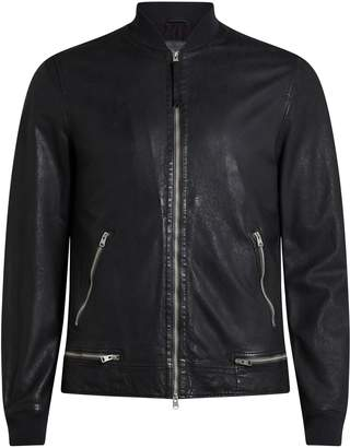 AllSaints Men's Madden Leather Bomber