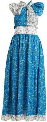GÜL HÜRGEL Knot-front cotton dress