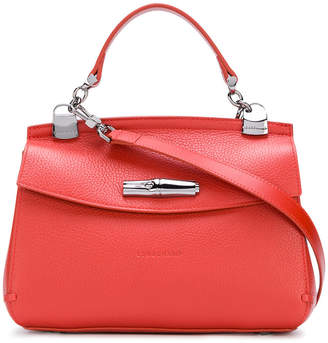 Longchamp push lock tote