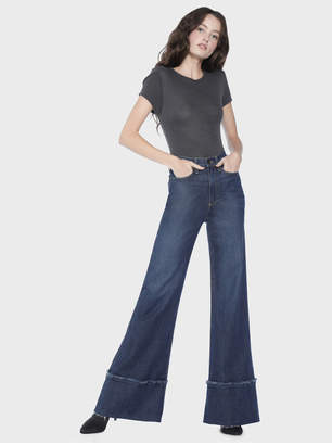 Alice + Olivia Gorgeous High Rise Exaggerated Hem Jean
