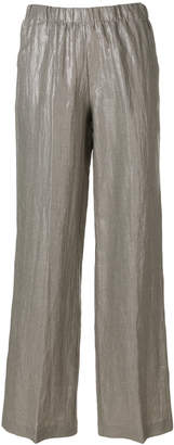 Kiltie metallic flared trousers