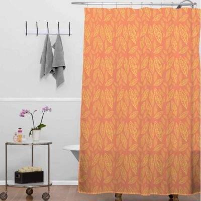 Allyson Johnson Fall Leaves Shower Curtain in Orange/Yellow