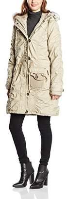 DreiMaster Women's Long Sleeve Coat - Beige