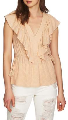 1 STATE 1.STATE V-Neck Ruffle Edge Top