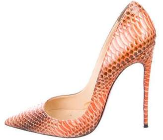 Christian Louboutin Snakeskin Pointed-Toe Pumps