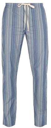 Paul Smith Striped Cotton Pyjama Trousers - Mens - Blue