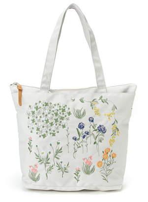 glanta 『glanta』春ののはら刺しゅうトートバッグ(パスケース付き) ハッカ バッグ