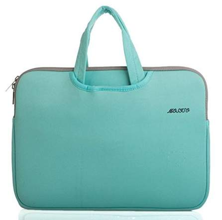Mosiso Laptop Briefcase, Water Repellent Neoprene Carry Case Bag Cover Pouch Sleeve for 14 Inch Laptop / Notebook Computer / MacBook Pro / MacBook Air, Hot Blue