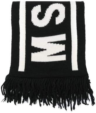 MSGM Kids logo intarsia scarf