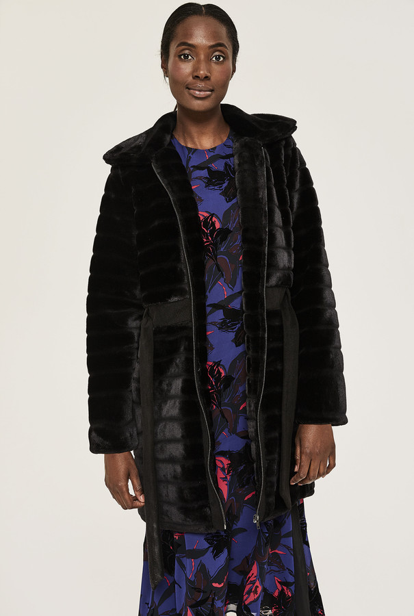 Y.A.S Tall Asala Faux Fur Coat