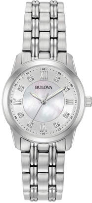 Bulova Women's Dress Diamond Accent Stainless Steel Bracelet Watch 30mm 96P179 $299 thestylecure.com