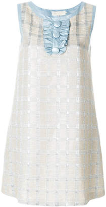 L'Autre Chose patterned stitch mini dress
