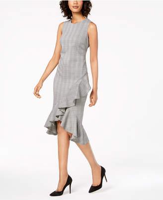 Calvin Klein Menswear Ruffled Sheath Dress
