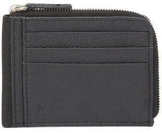 Moleskine Leather Half Zip Wallet