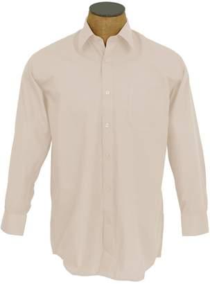Sunrise Outlet Men's Solid Color Cotton Blend Dress Shirt