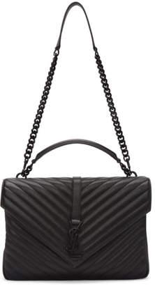 Saint Laurent Black Large College Bag