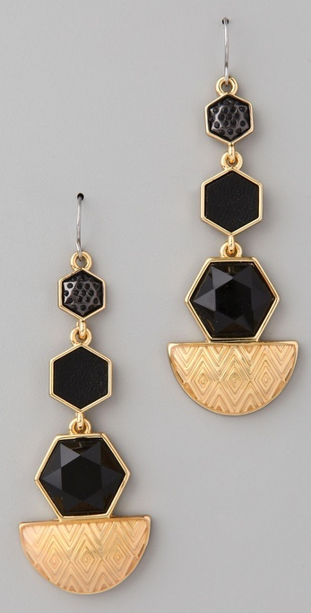 House Of Harlow 1960 Hexagon Drop Earrings