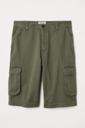 H&M Cotton Cargo Shorts - Green