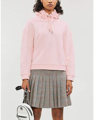 Selfridges Bapy Metallic brand-print cotton-jersey hoody