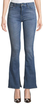 DL1961 Premium Denim Bridget Mid-Rise Boot-Cut Jeans