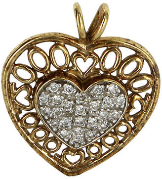 One Kings Lane Vintage Diamond Heart Pendant - Precious & Rare Pieces