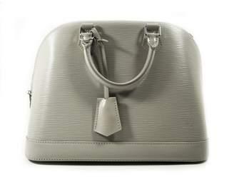 Louis Vuitton Alma Grey Leather Handbags