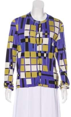 Bottega Veneta Cashmere & Silk Geometric Cardigan