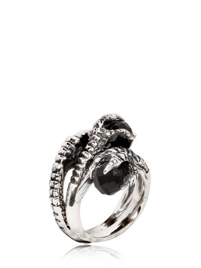 KD2024 Two Claw Silver Ring